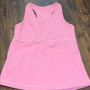 Lululemon dusty rose v-neck tank with built-in bra